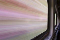 Запачканный абстрактный ландшафт от поезда Стоковые Фото