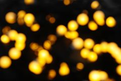 Запачканный взгляд красивых светов рождества Стоковая Фотография