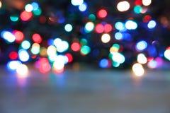 Запачканный взгляд светов рождества Стоковое Фото