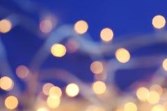 Запачканный взгляд светов рождества Стоковая Фотография