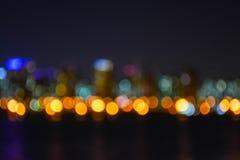 Запачканный взгляд ночи Сеула city2 Стоковые Изображения RF