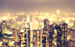 Запачканный вид с воздуха города от точки зрения Стоковое Фото
