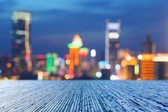 Запачканный городской горизонт стоковая фотография rf