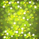 Запачканный желтый цвет освещает предпосылку Стоковые Фото