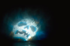 запачканный интересный череп Стоковые Фото