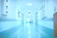 Запачканный интерьер больницы как медицинская предпосылка стоковые изображения rf