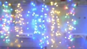 Запачканный конспект освещает предпосылку bokeh видеоматериал