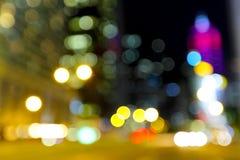 Запачканный несосредоточенный вид на город Стоковое Изображение RF