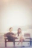 Запачканный пар влюбленности Стоковое Изображение RF