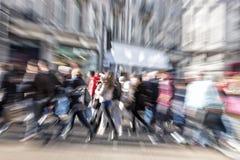 Запачканный пешеход, влияние сигнала Стоковые Изображения RF