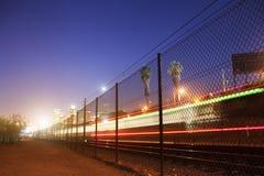 Запачканный поезд Стоковые Изображения RF