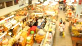 Запачканный рынок в chiangmai Таиланде рынка Varoroj видеоматериал