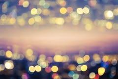 Запачканный свет города зеленый тон Резюмируйте предпосылку bokeh стоковое изображение rf