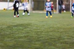 Запачканный тангаж футбола стоковая фотография rf