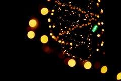 запачканный whirl светов гирлянды стоковая фотография rf