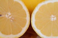2 запачканных половины лимона Стоковое Изображение