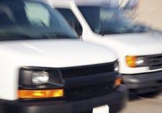 2 запачканных фургона Стоковая Фотография