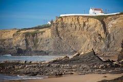 Западная береговая линия океана Португалии Стоковые Изображения RF