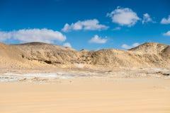 Западная белая пустыня, в Египте стоковые изображения