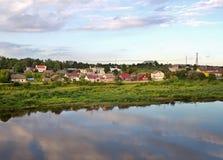 Западная Двина реки в Латвии Стоковые Фотографии RF