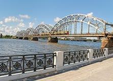 Западная Двина реки в Риге стоковое фото rf