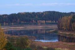 Западная Двина реки Стоковое Изображение