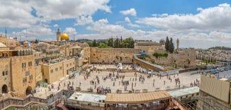 Западная панорама Иерусалима стены Стоковые Изображения