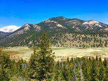 Западная подкова в национальном парке скалистой горы Стоковые Фото