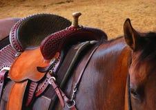 Западная седловина на лошади стоковые изображения