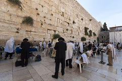 Западная стена еврейского виска, Иерусалим, Израиль Стоковые Изображения