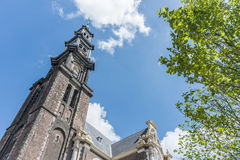 Западная церковь в Амстердаме, Нидерландах Стоковая Фотография RF