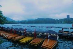 Западное озеро в Ханчжоу Китае Стоковое Фото