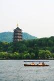 Западное озеро в Ханчжоу Стоковые Фотографии RF