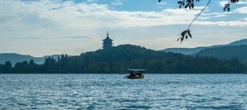 Западное озеро в Ханчжоу Стоковое Изображение