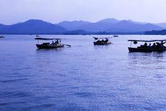 Западное озеро в Ханчжоу Стоковая Фотография