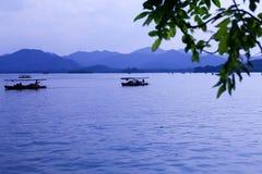 Западное озеро в Ханчжоу Стоковые Изображения RF