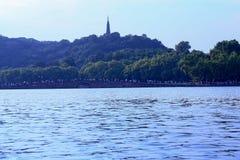 Западное озеро в Ханчжоу Стоковое Изображение RF