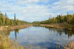 Западное озеро Bearskin обозревает, Минесота стоковое фото