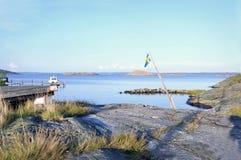 Западное побережье Швеция - ландшафт лета Стоковые Фотографии RF