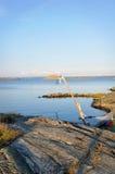 Западное побережье Швеция - ландшафт лета Стоковая Фотография