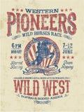 Западное родео пионеров бесплатная иллюстрация