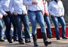 Западные танцоры стоковая фотография