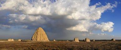 Западные усыпальницы Xia имперские Стоковые Фото
