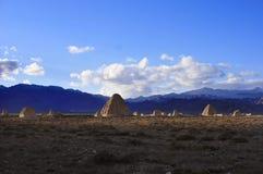 Западные усыпальницы Xia имперские Стоковая Фотография RF