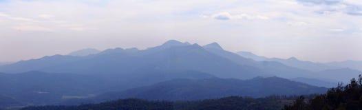 Западные ghats панорамы Индии Стоковая Фотография