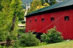 Западный Арлингтон, VT: Крытый мост 1852 Стоковое Изображение