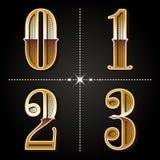 Западный алфавит градиента помечает буквами вектор 0,1,2 номеров года сбора винограда, иллюстрация вектора