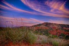 Западный заход солнца Техаса стоковые изображения rf