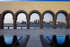 Западный залив, Доха, Катар Стоковые Фотографии RF