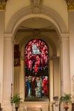 Западный край цветного стекла собора Бирмингема Стоковая Фотография RF